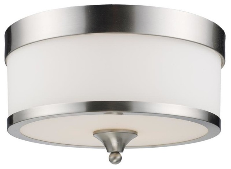 Image of: White Drum Shade Ceiling Light