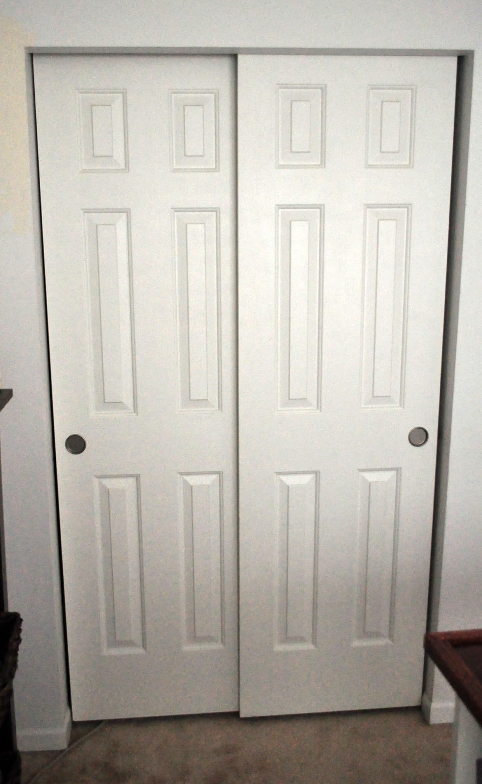 2 Panel Sliding Panel Closet Doors