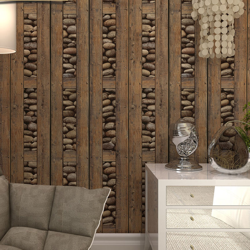 3D Stone Faux Wood Wall Panels
