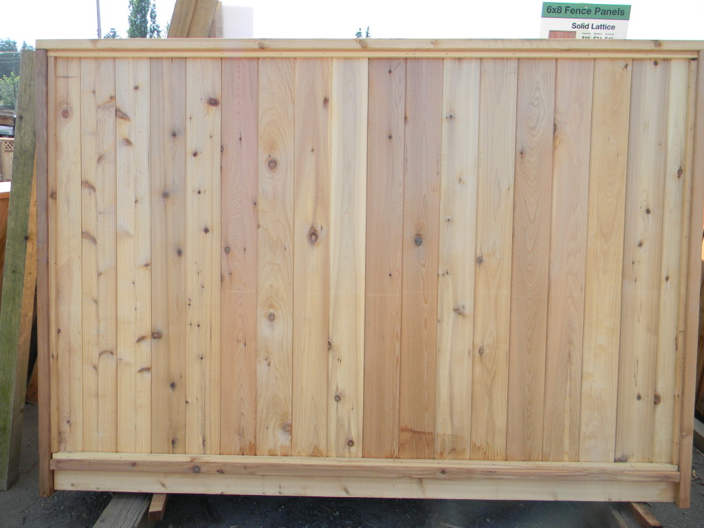 6×8 Wood Fence Panels Cost