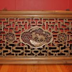 Antique Wood Carved Wall Panel