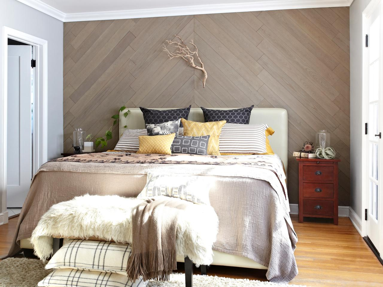 Image of: Awasome Whitewash Wood Paneling