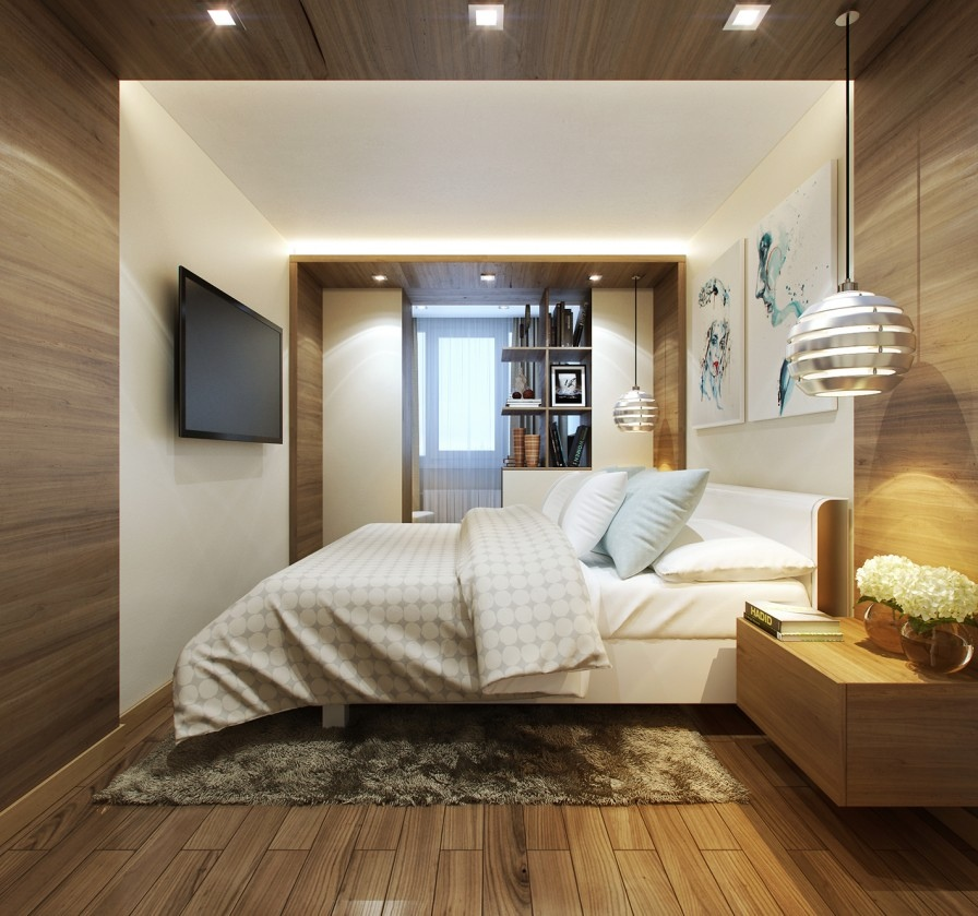 Image of: Awesome Wood Panel Bedroom