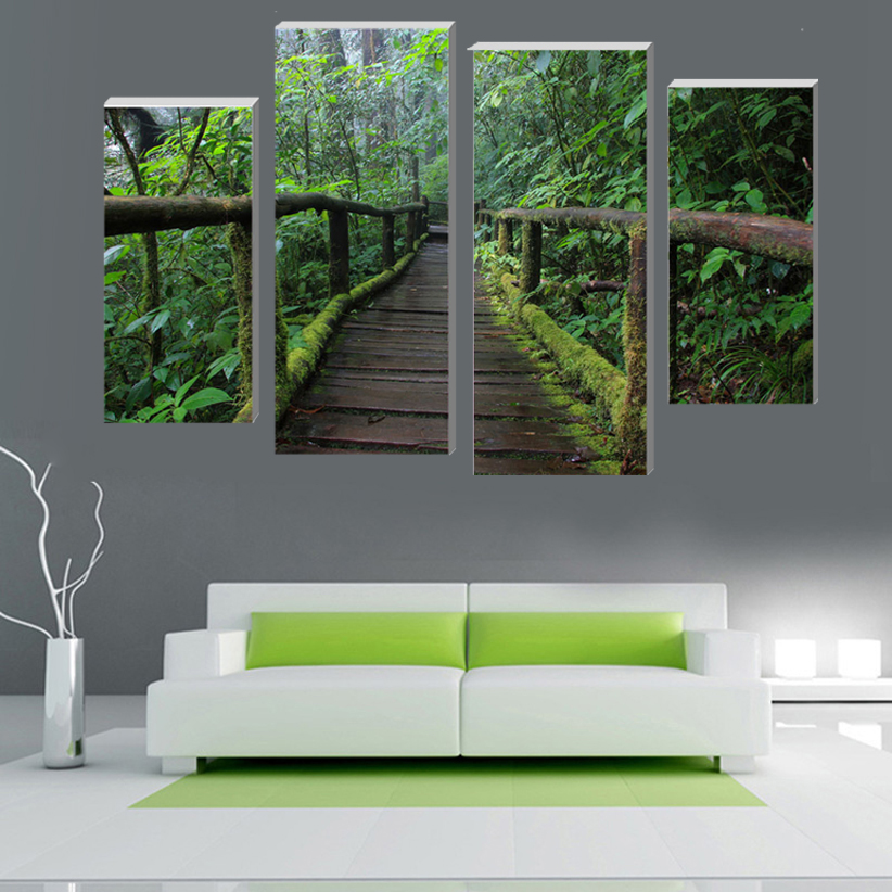 Beautiful Wood Panel Wall Art Style