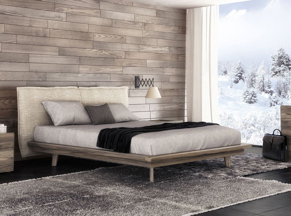 Image of: Bedroom Stikwood Adhesive Wood Paneling