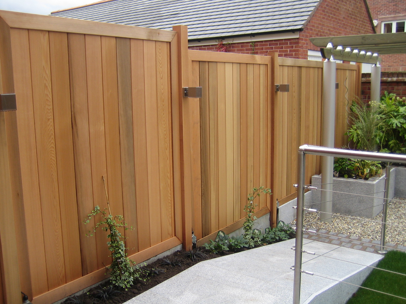 Red Cedar Wood Fence Panels