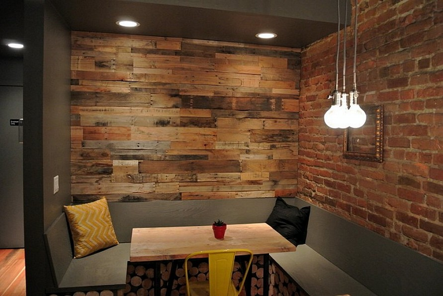 Brick And Wood Paneled Walls