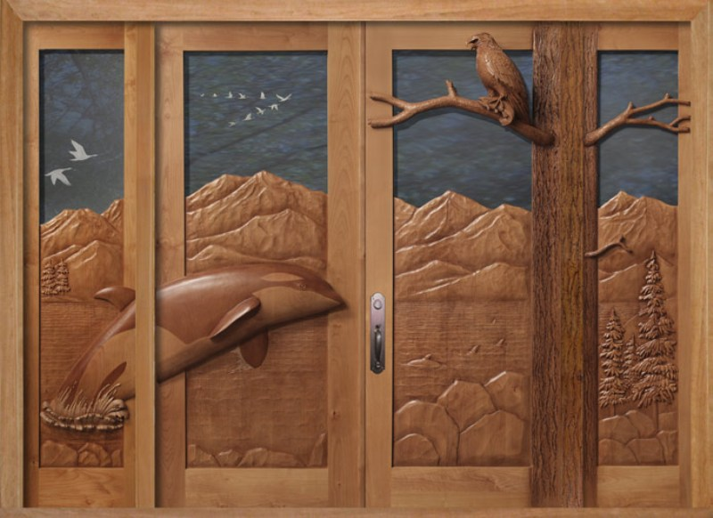 Carved Wood Door Panels