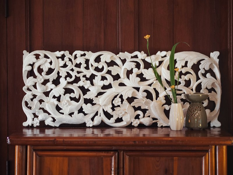 Carved Wood Panel Wall Art