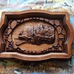 Carved Wood Panel Wall Decor
