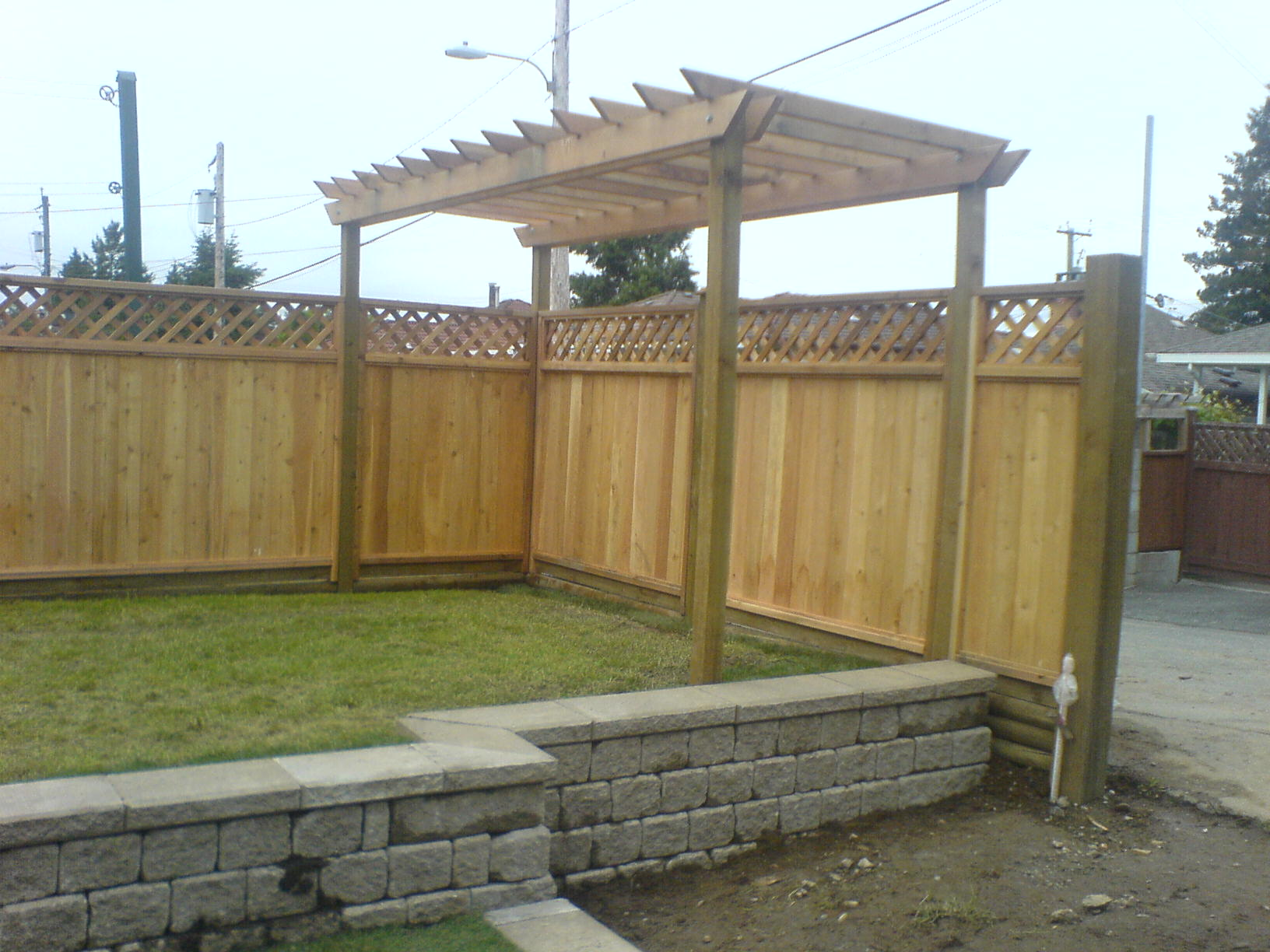 Cedar Wood Fence Panels Installation