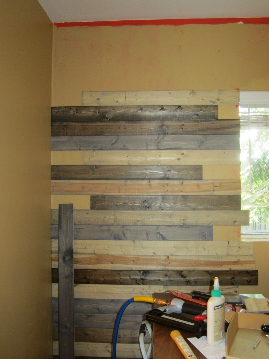 Image of: Cheap Faux Reclaimed Wood Paneling