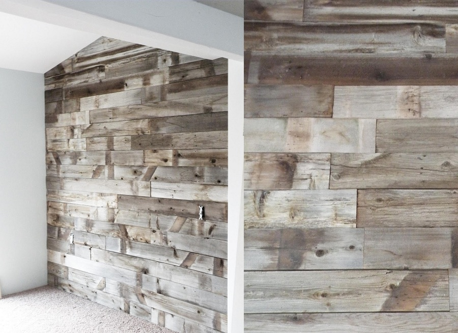 Image of: Cheap Reclaimed Barn Wood Paneling