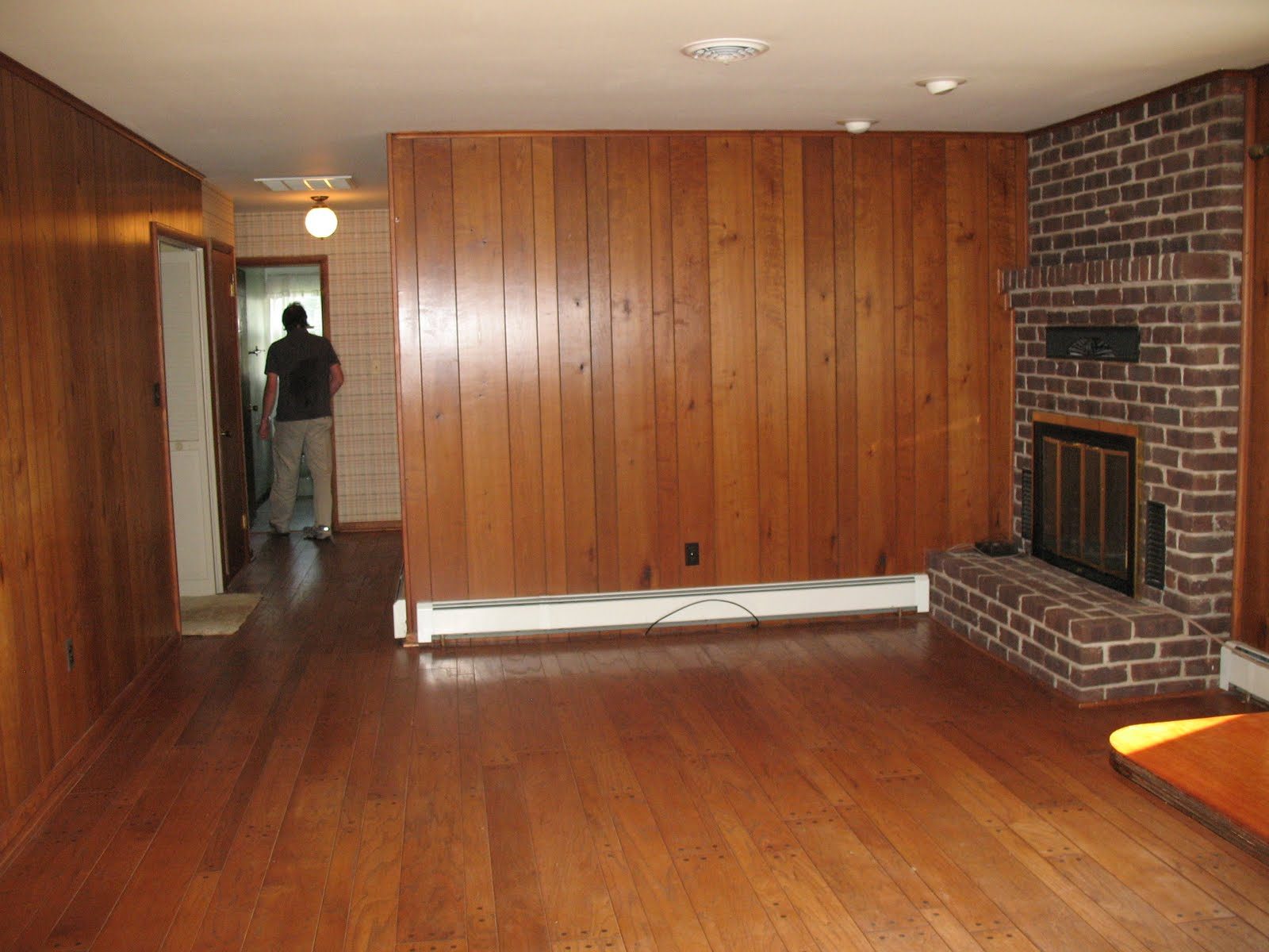Image of: Cheap Wood Paneling Design