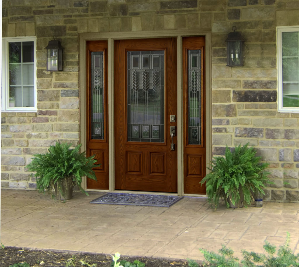 Contemporary Front Doors With Side Panels