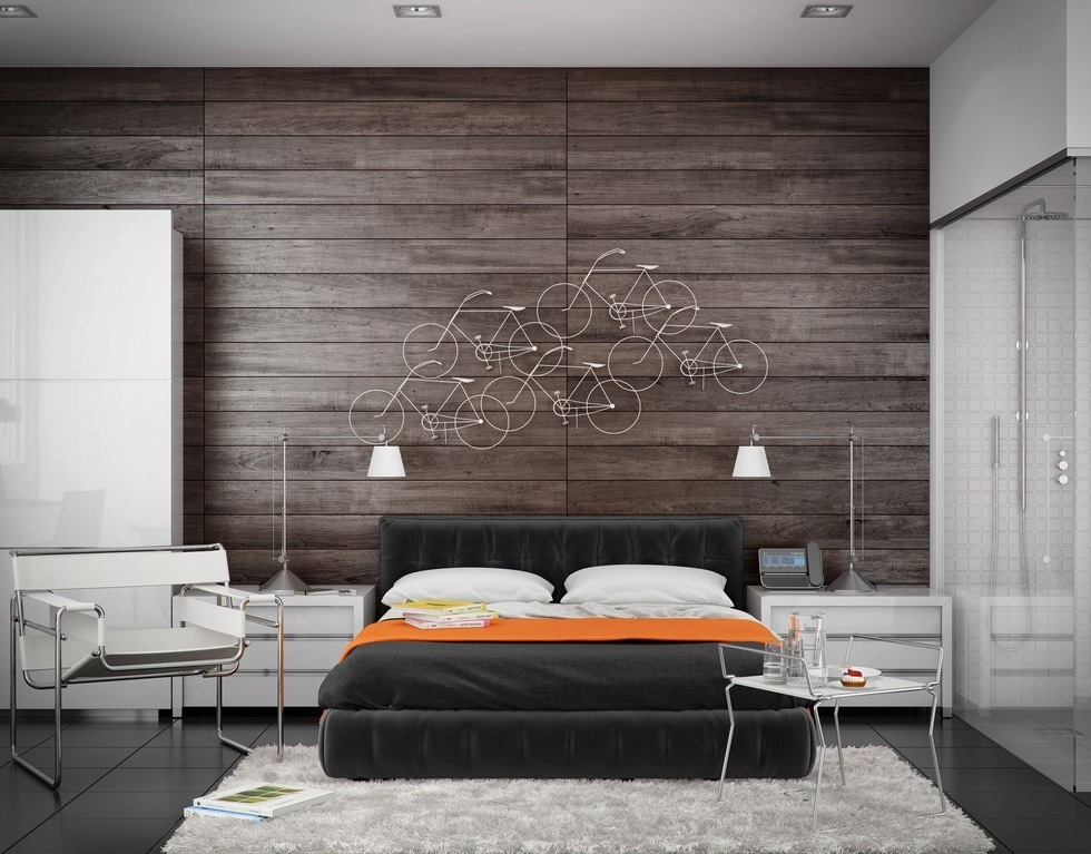 Cool Wood Panel Bedroom