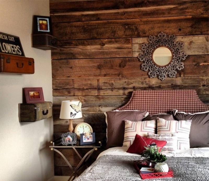 Image of: Cottage Wood Panel Bedroom