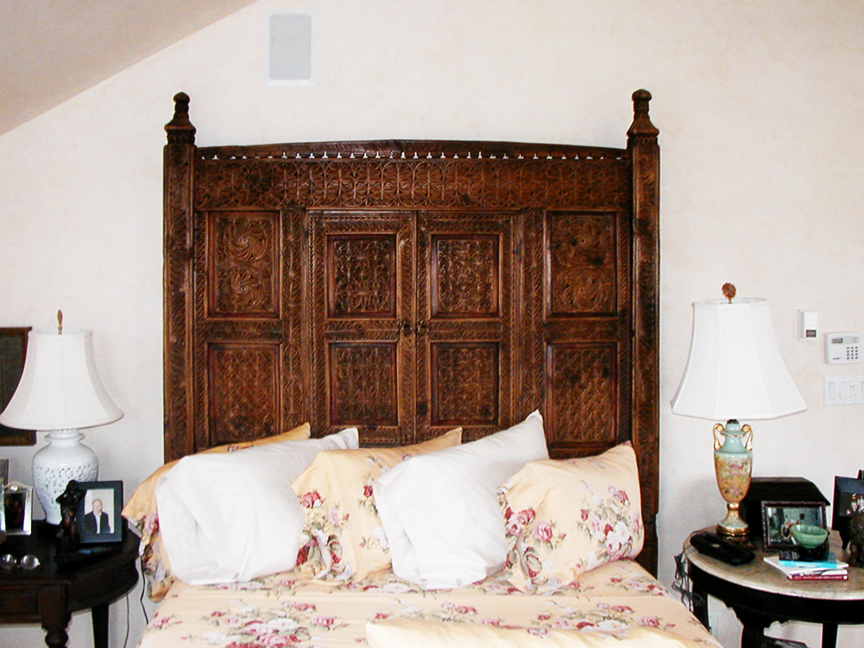 Image of: Custom Wood Panel Headboard