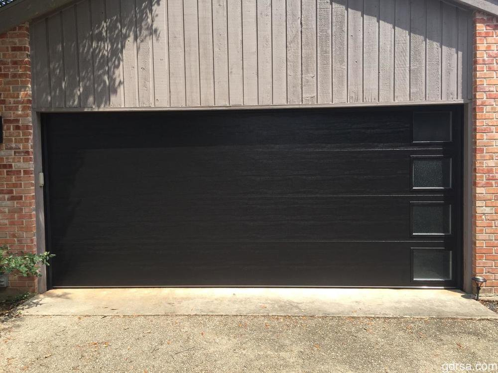 Dark Flush Panel Garage Door