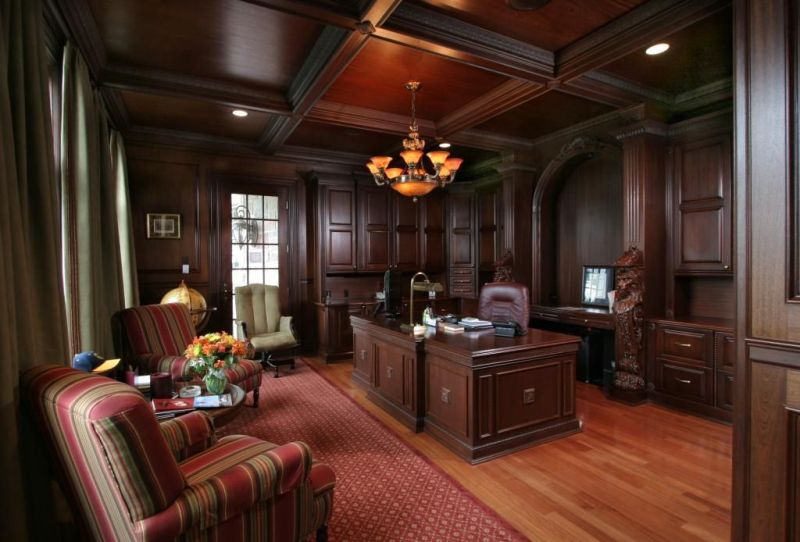 Classic And Elegant Dark Wood Paneling