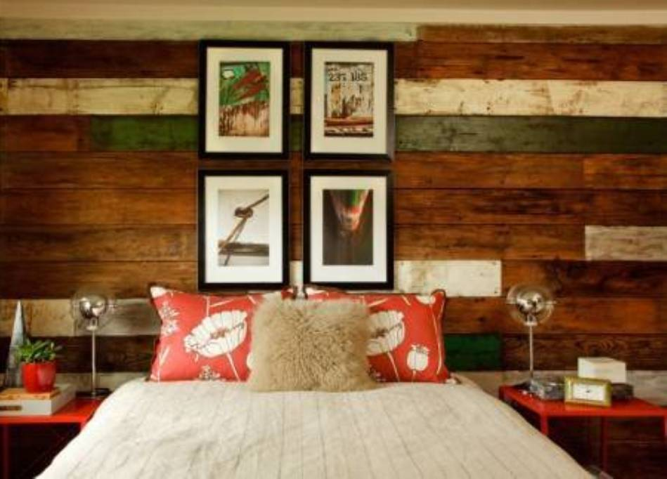 Decorating Rustic Wood Wall Paneling