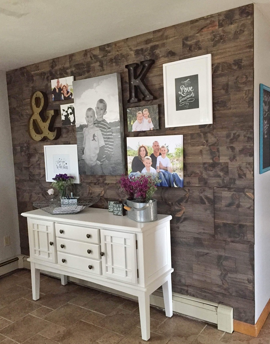 Image of: Decoration Faux Reclaimed Wood Paneling
