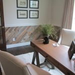 Distressed Wood Paneling Accent
