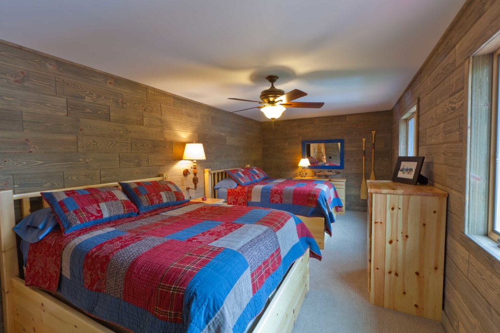 Distressed Wood Paneling Bedroom