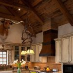 Distressed Wood Paneling Ceiling