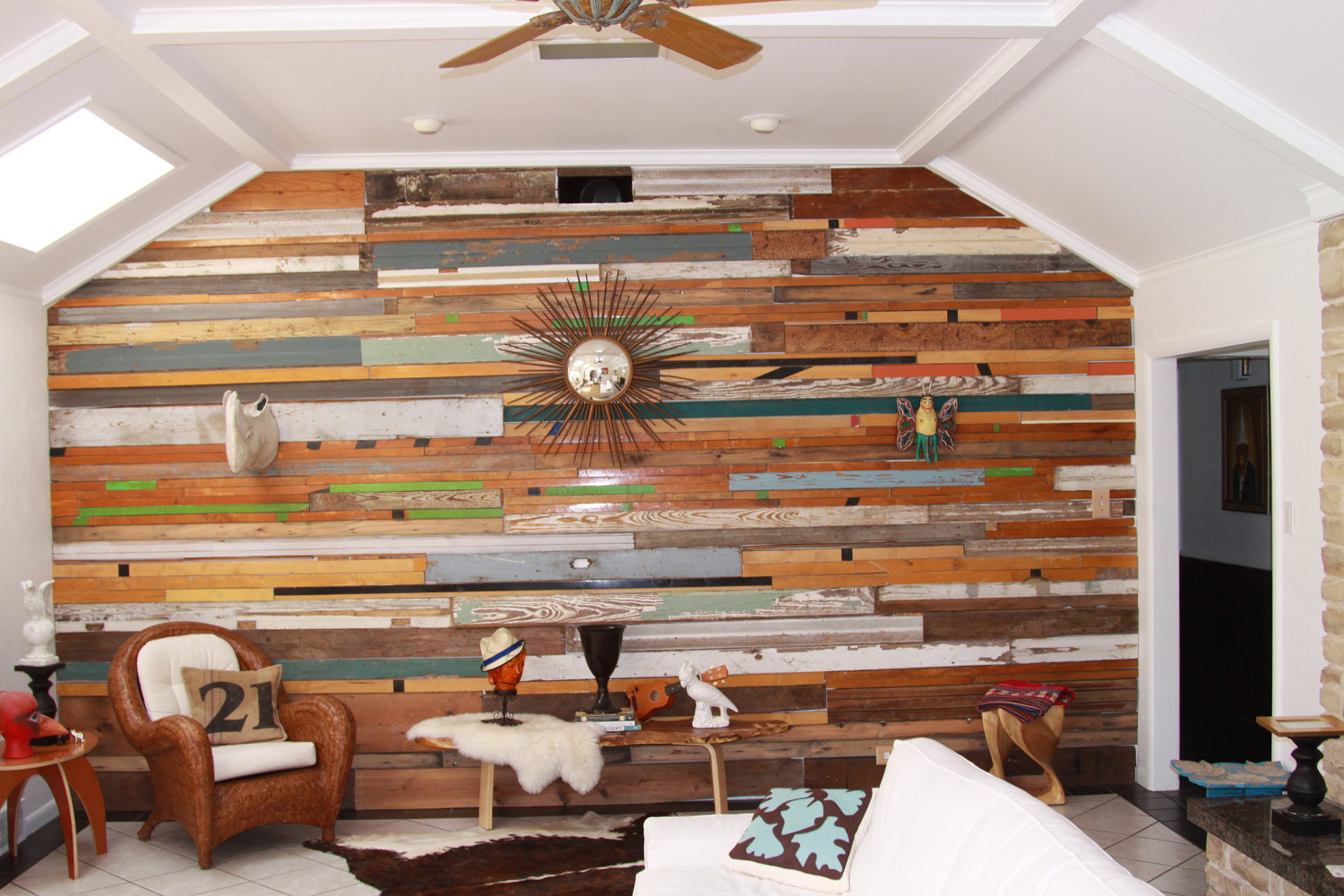 Image of: Distressed Wood Paneling Indoor