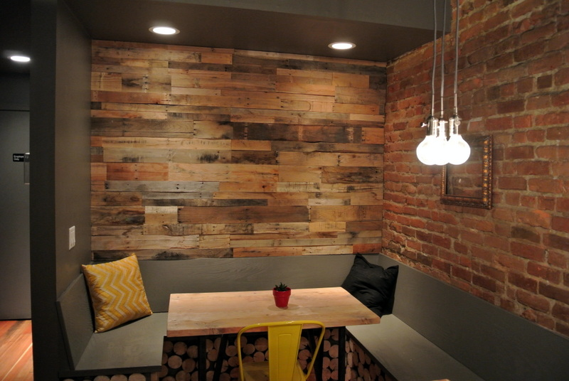 Distressed Wood Paneling Wall