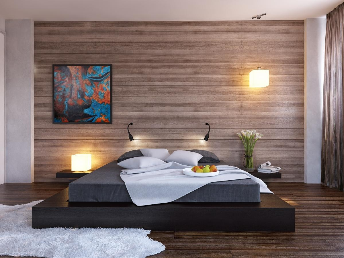 Image of: Distressed Wood Wall Panels Bedroom