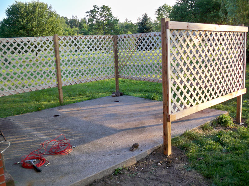 Image of: Diy Wood Lattice Fence Panels