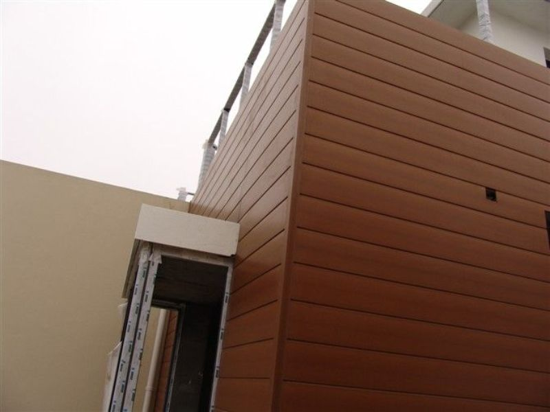 Exterior Wood Paneling Design