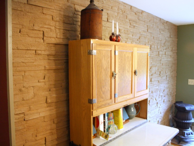 Picture of: Fake Wood Paneling Adhesive
