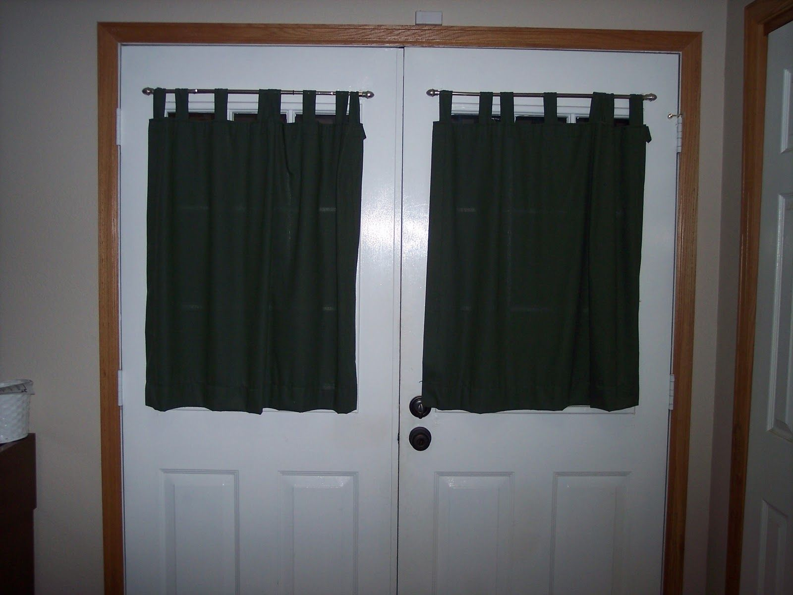Make Your Own Affordable Door Panel Curtain