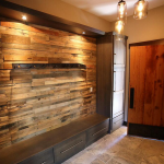 Faux Rustic Wood Wall Paneling