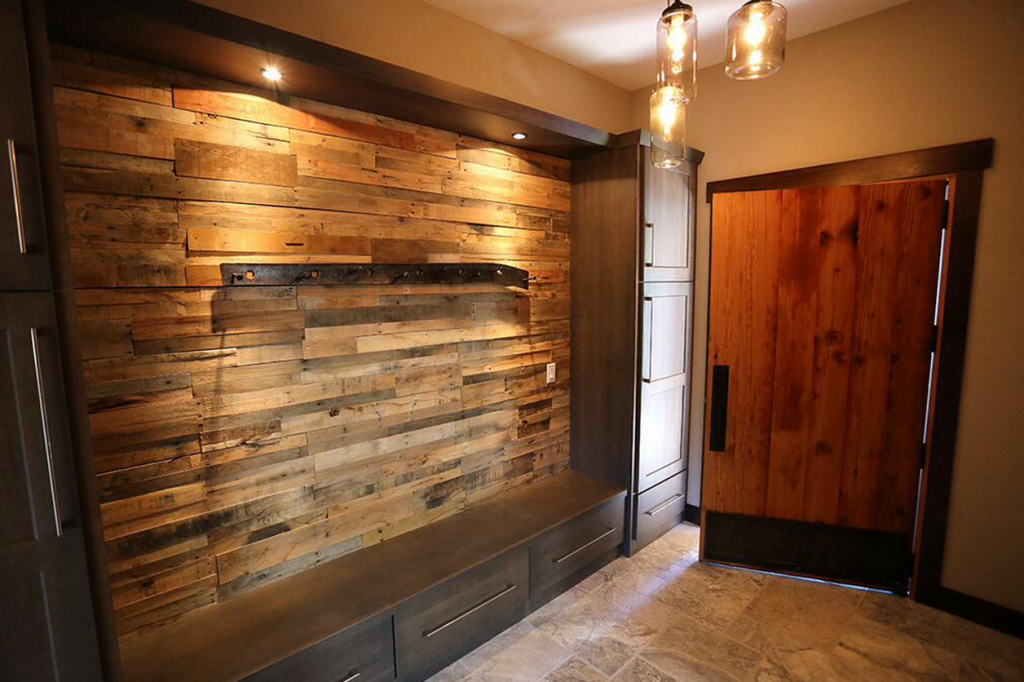 Image of: Faux Rustic Wood Wall Paneling