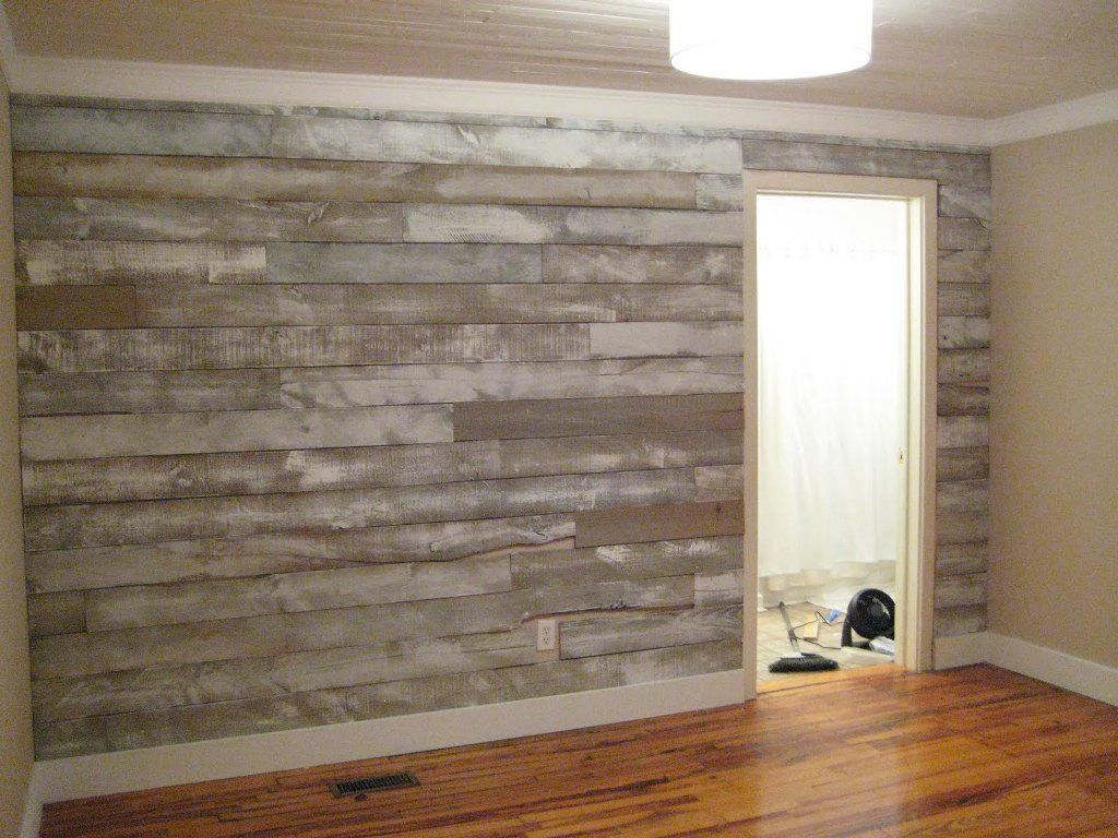 Image of: Faux Wood Panels Wallpaper
