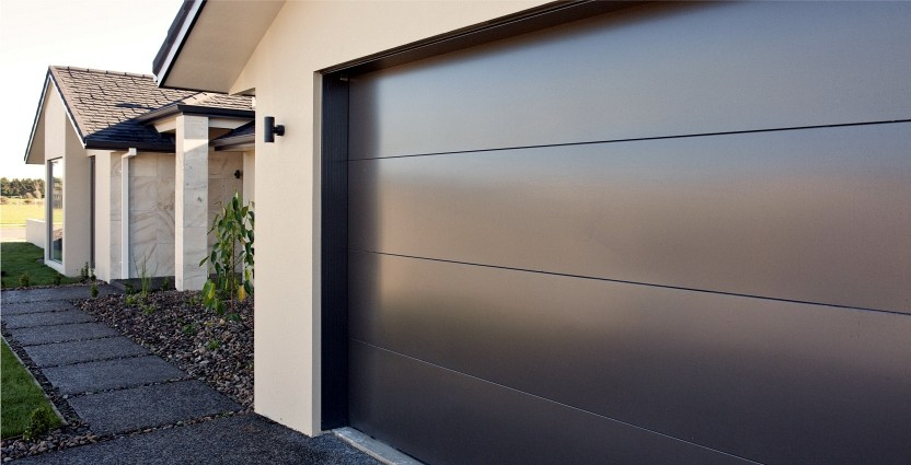 Flat Panel Garage Door Black