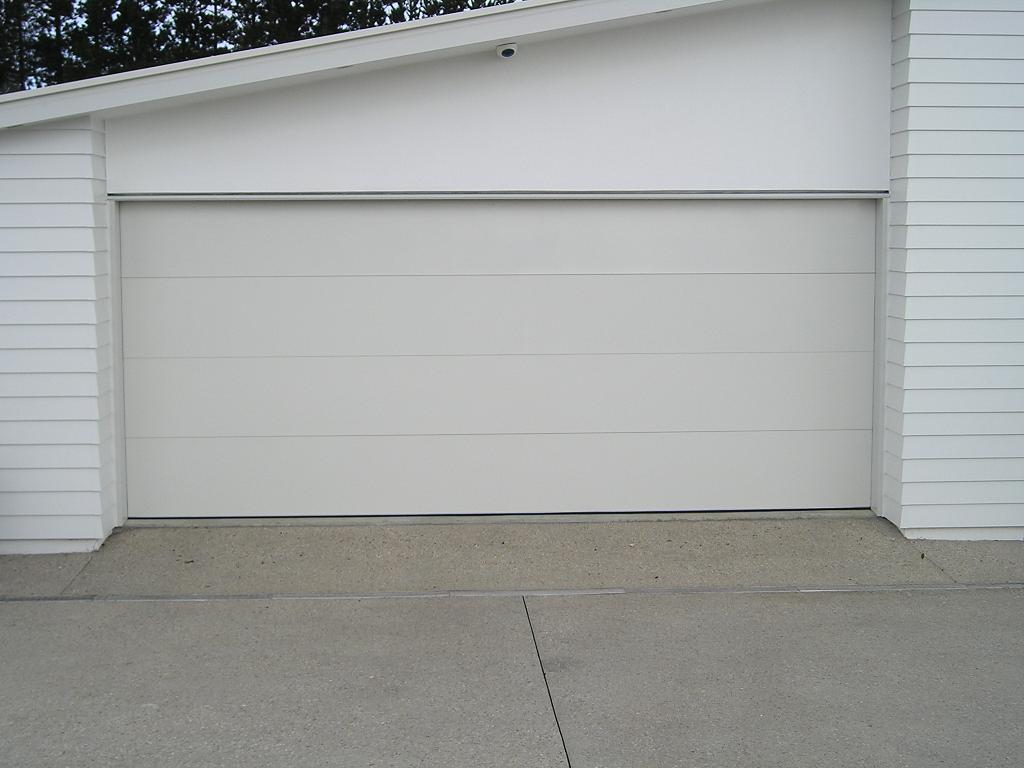 Flat Panel Garage Door Color