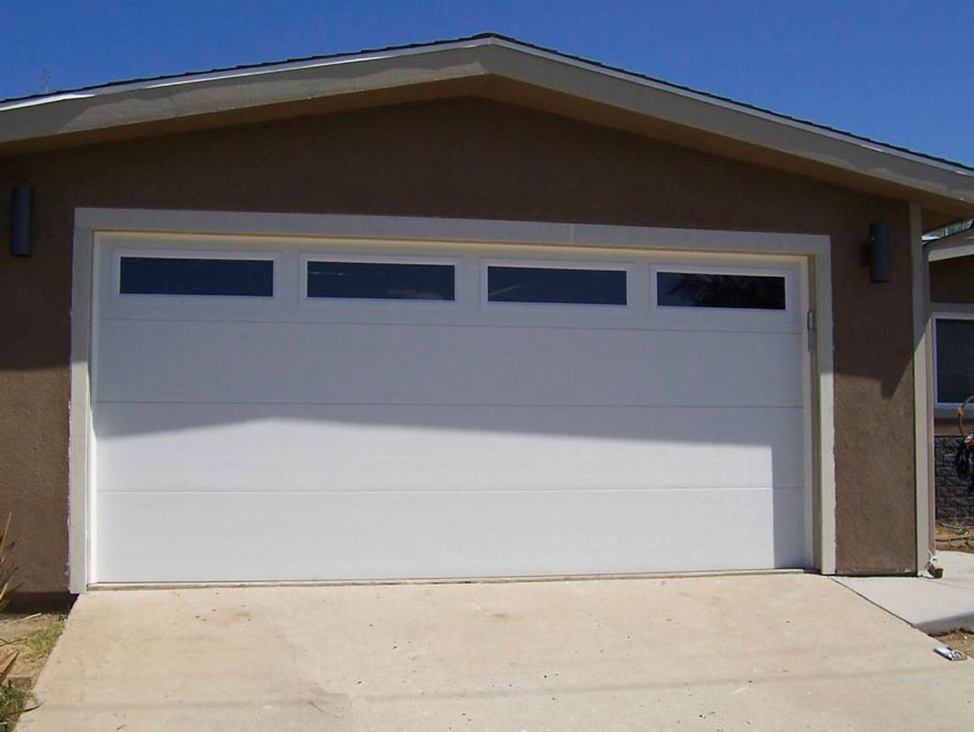 Flat Panel Garage Door White