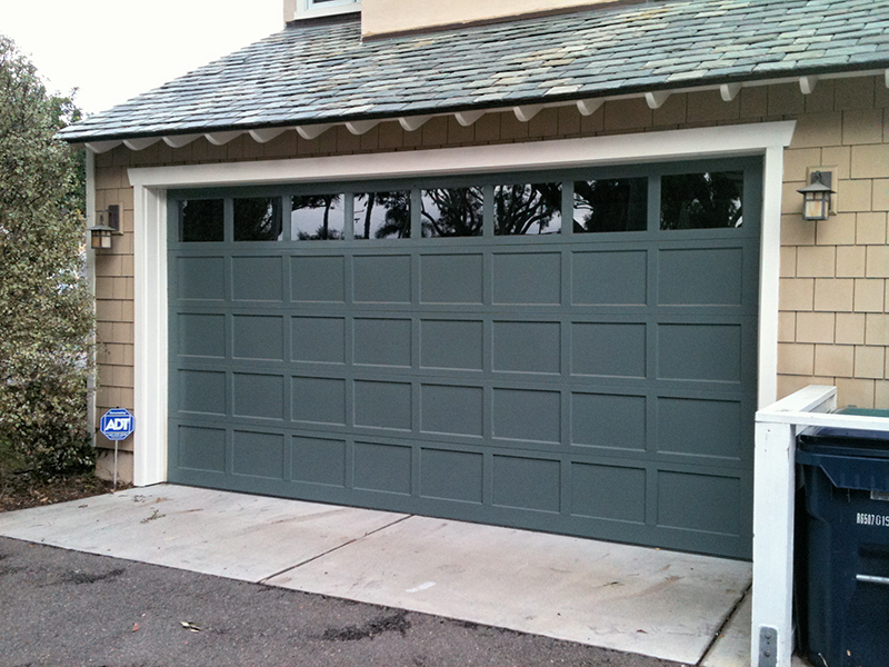 Flat Panel Garage Door Wood