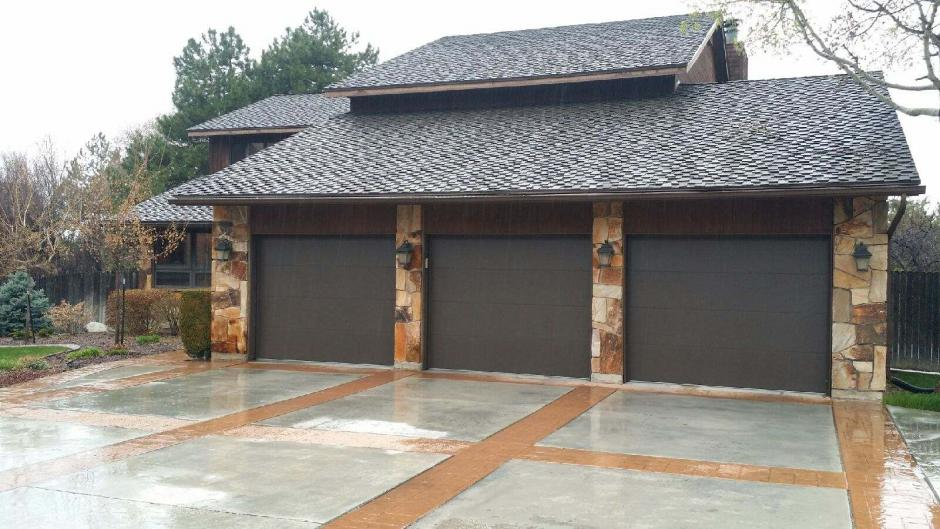 Flush Panel Garage Door Color