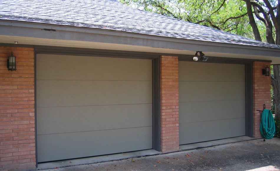 Flush Panel Garage Door Double