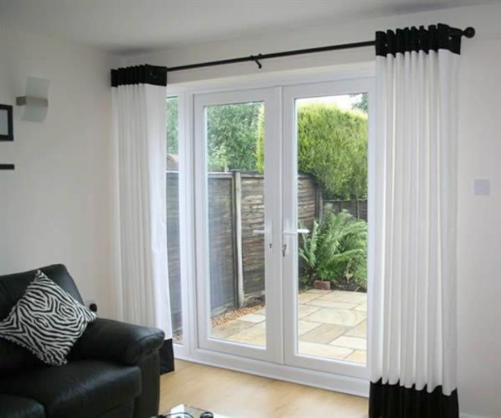 Image of: French Door Curtain Panels Velcro