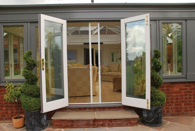 Image of: French Door Panels Roll Up