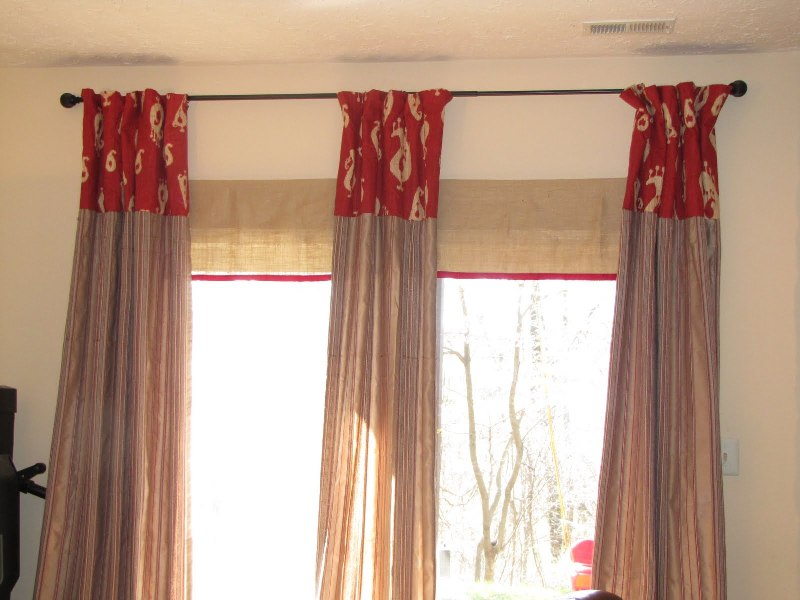 Image of: French Door Panels With Velcro