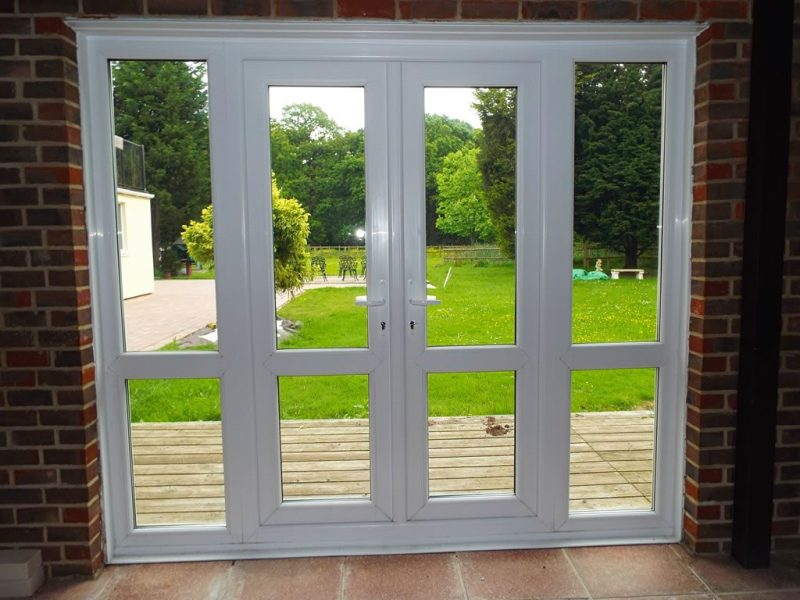 Image of: French Door With Side Panels