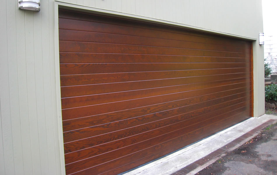 Image of: Garage Door Faux Wood Panels